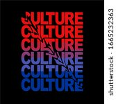 culture color   typography for... | Shutterstock .eps vector #1665232363