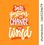 small gestures can change the... | Shutterstock .eps vector #1665234679