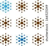 design halftone hexagon cell... | Shutterstock .eps vector #166525349