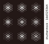 design halftone hexagon cell... | Shutterstock .eps vector #166525364
