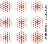 design halftone hexagon cell... | Shutterstock .eps vector #166525658