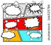 comic speech bubbles vector... | Shutterstock .eps vector #166525784