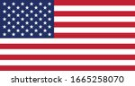 vector image of american flag | Shutterstock .eps vector #1665258070