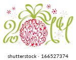 decoration   happy new year 2014 | Shutterstock .eps vector #166527374