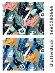 trendy pattern. abstract hand...   Shutterstock .eps vector #1665280666