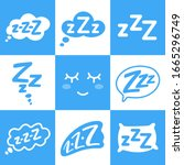 zzz sleep bubble with text....   Shutterstock .eps vector #1665296749