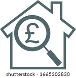 pound house icon. vector... | Shutterstock .eps vector #1665302830