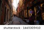 portovenere, italy - 02 15 2020: streets of Portovenere - stock photo