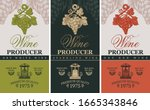 vector set of three labels for... | Shutterstock .eps vector #1665343846