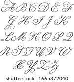 monogram alphabet with... | Shutterstock .eps vector #1665372040