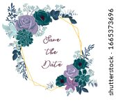 vector drawing rose flowers and ...   Shutterstock .eps vector #1665373696