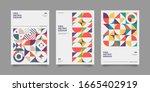 vintage retro bauhaus design... | Shutterstock .eps vector #1665402919