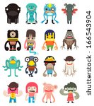 Vector cute monsters collection, illustrator cartoon set monsters.