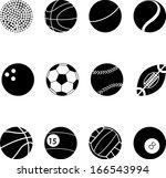 sport icons   Shutterstock .eps vector #166543994