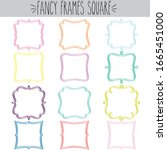 fancy decorative blank square... | Shutterstock .eps vector #1665451000