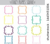 fancy decorative blank square... | Shutterstock .eps vector #1665451006