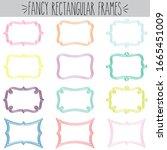 fancy decorative blank... | Shutterstock .eps vector #1665451009