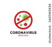 corona virus 2020. corona virus ... | Shutterstock .eps vector #1665463636