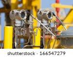pressure transmitter in oil and ... | Shutterstock . vector #166547279