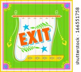 Illustration Of Exit Poster...