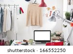 room of a fashion blogger.  a... | Shutterstock . vector #166552250