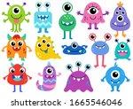 Cute Monster Vector Set....