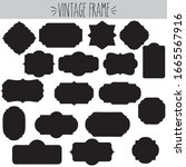 decorative vintage clear frames ... | Shutterstock .eps vector #1665567916