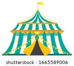 vintage circus tent....   Shutterstock .eps vector #1665589006