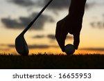 golf silhouette | Shutterstock . vector #16655953