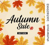 Autumn Sale Background With...