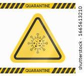 coronavirus quarantine caution... | Shutterstock .eps vector #1665613210