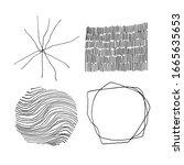 set of vector abstract handmade ...   Shutterstock .eps vector #1665635653
