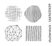 set of vector abstract handmade ...   Shutterstock .eps vector #1665635659