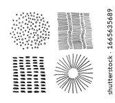 set of vector abstract handmade ...   Shutterstock .eps vector #1665635689