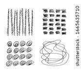set of vector abstract handmade ...   Shutterstock .eps vector #1665635710