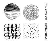 set of vector abstract handmade ...   Shutterstock .eps vector #1665635713