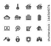 real estate icons | Shutterstock .eps vector #166564076