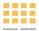 emv chip icon set. nfc chip for ... | Shutterstock .eps vector #1665642829