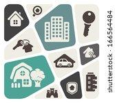 real estate theme illustration | Shutterstock .eps vector #166564484