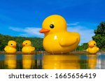 Big Yellow Rubber Ducks In The...