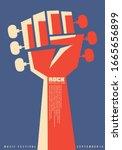 rock revolution creative poster ... | Shutterstock .eps vector #1665656899
