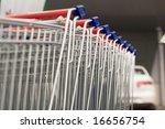 Row Of Shopping Carts....