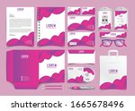 corporate identity set.... | Shutterstock .eps vector #1665678496
