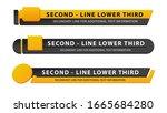 vector video headline title or... | Shutterstock .eps vector #1665684280