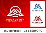pro action gaming powerful... | Shutterstock .eps vector #1665689740