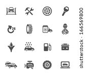 car service icon set | Shutterstock .eps vector #166569800