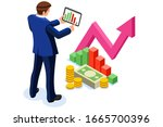 symbolic profit  increased... | Shutterstock .eps vector #1665700396