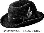 homburg hat illustration ...   Shutterstock .eps vector #1665701389