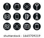 line block style icon set...   Shutterstock .eps vector #1665709219