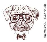 vintage illustration of hipster ... | Shutterstock . vector #166572830